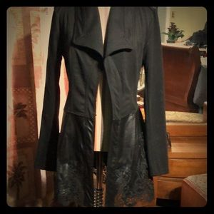 Venus leather lace blazer size small